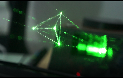 Holography Floats into the Real World